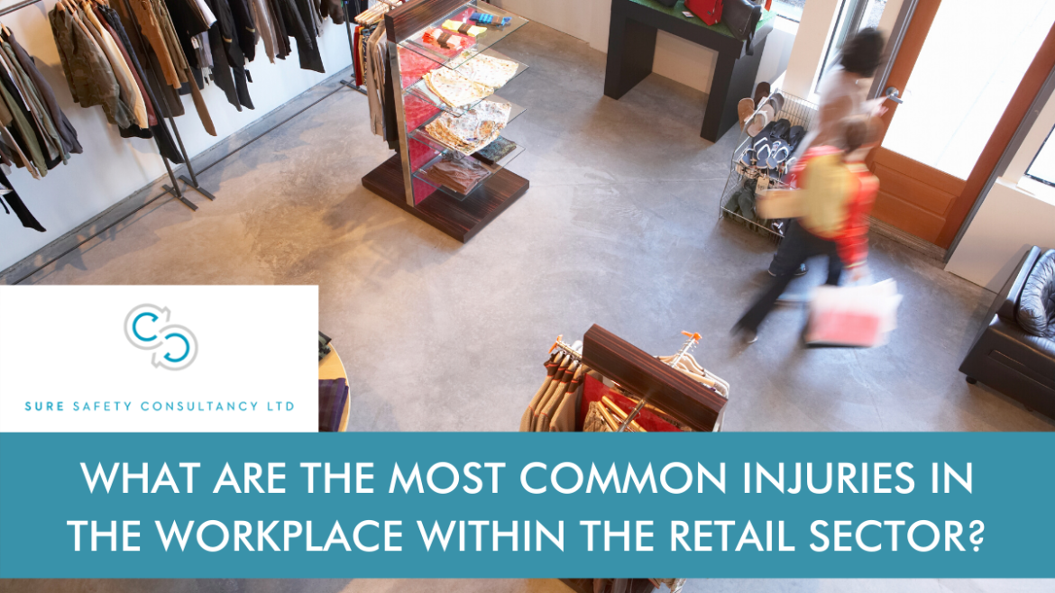 Shop floor with title - What are the most common injuries in the workplace within the retail sector?